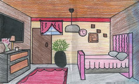 Drawing Room Colour Games by 1 Point Perspective Room Interior Lee Visual Art