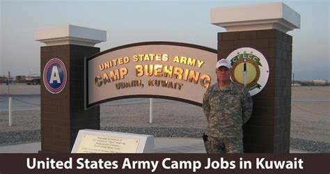 army based jobs  kuwait  camp buehring