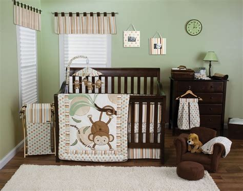babies monkey crib bedding