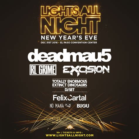 lights all night 2016 lineup lights all night announces el paso event on nye edmboutique