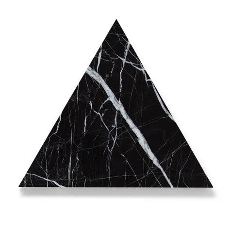 triangle marble black marquina marble triangle board trivet 30cm
