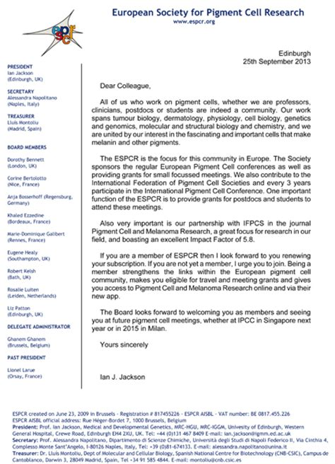 Sponsorship Renewal Letter Espcr 187 Archive 187 2014 Joining Renewal Caign Welcome Letter From Espcr President