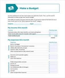 printable budget template household budget worksheet excel template calendar