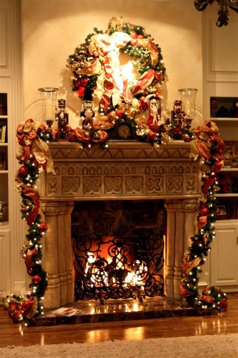 decorating fireplace for christmas interior design decor