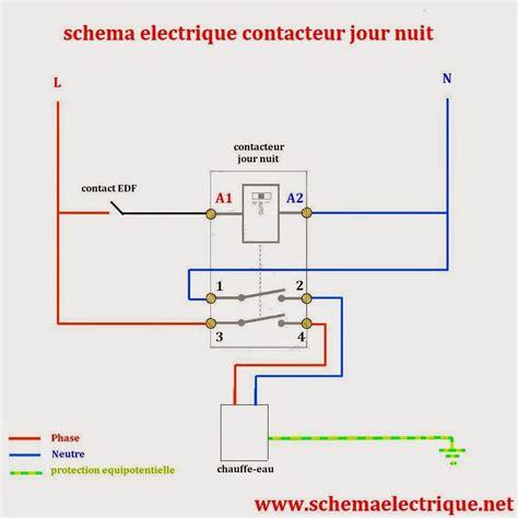 section 25c sch 233 ma electrique contacteur jour nuit branchement d