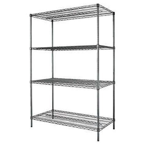 alera 4 shelf 72 quot wire shelving rack black anthracite