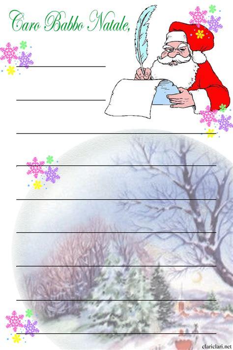 lettere natalizie lettera per babbo natale da stare