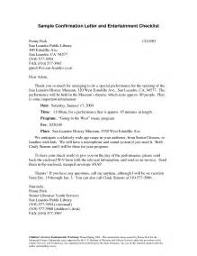 Confirmation Letter Exle Format Of Confirmation Letter Best Template Collection