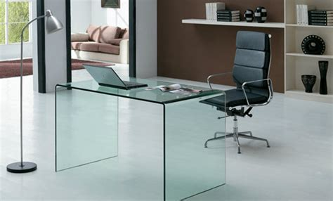glass office desks for home eye catching glass topped