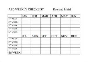 weekly checklist template sle weekly checklist template 10 free documents in