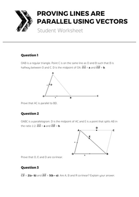 Proving Lines Parallel Worksheet Answers by Proving Lines Are Parallel Using Vectors Complete Lesson