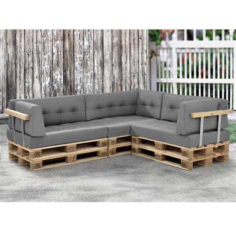 en casa 1 x seat pad pallet cushions in outdoor pallets