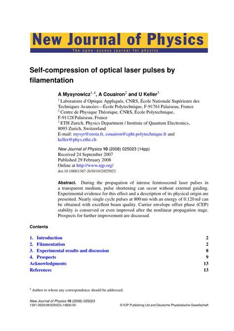 compress pdf javascript self compression of optical laser pulses by filamentation
