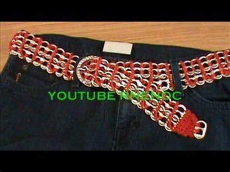 tejer con fichas de lata 3 de 3 como tejer cinturon con arillos de lata ganchillo