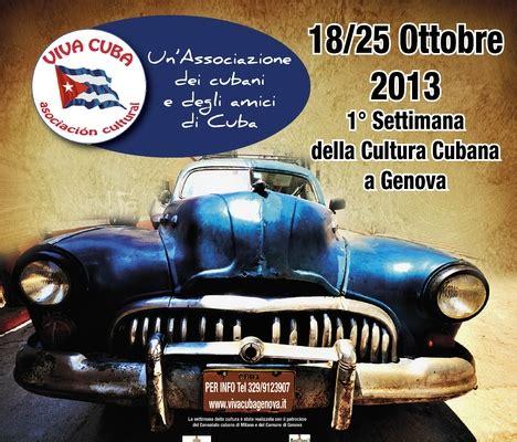 consolato cubano a settimana della cultura cubana a genova associazione