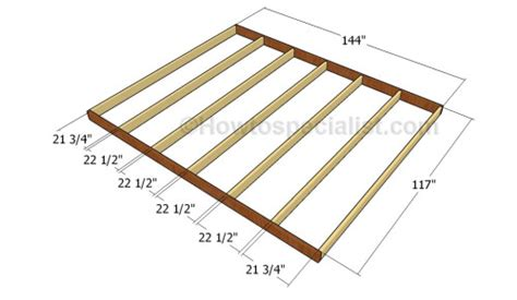 how to frame a floor 10x12 barn shed plans howtospecialist how to build