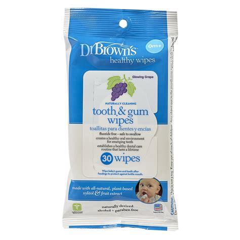 Kapas Dan Tissue Dr Brown S Tooth Gum Wipes Tisu Basah Pembersih jual murah dr brown healty wipes naturally cleaning tooth gum 30 sheet popok di jakarta