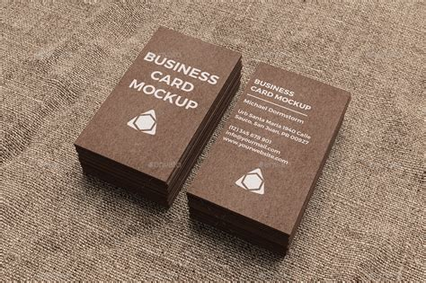 printable kraft paper business cards kraft paper business card mockup by aykutfiliz graphicriver