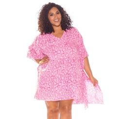 Pink Floral V Neck Playsuit Size Sml 1 plus size cover ups