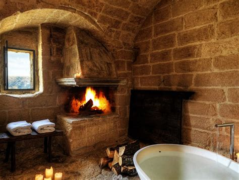 fireplace in bathroom wall 25 bathroom fireplaces that make any bath a wow therapy