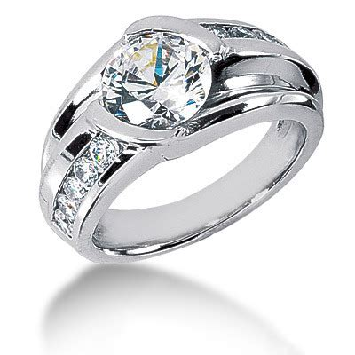 platinum mens ring 3 carat solitaire ring