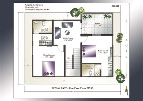 30 x 40 floor plans 30 x 40 house plan east facing house plan home plans india