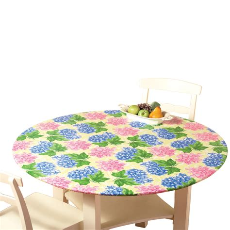 fitted tablecloths for oval tables 842022140698 upc fitted elastic table cover hydrangea