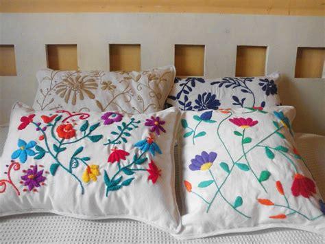 almohadas mexicanas almohadones bordados mexicanos artesanales almohadas
