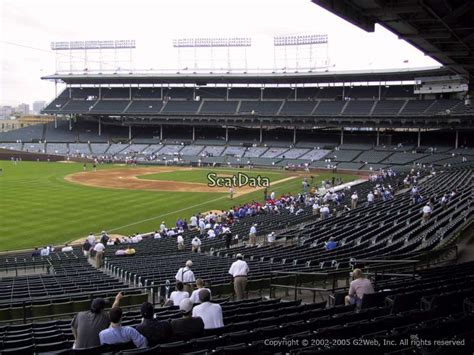 section 204 wrigley field section 204 seat view at wrigley field rateyourseats com