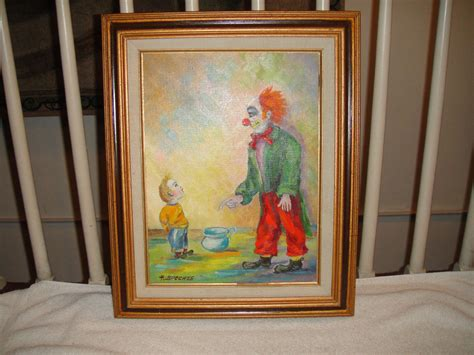 H Painting by Vintage Clown Painting By Artist H Spechts Fredrix