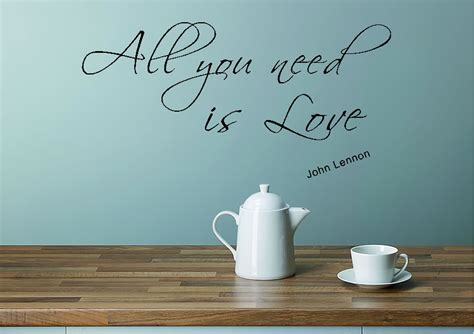 all you need is wall sticker all you need is 2 white text quotes wall stickers adhesive wall sticker