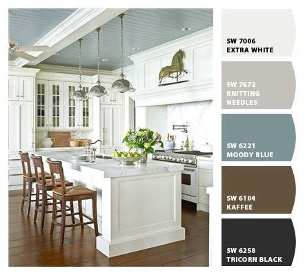 blue kitchen wall colors ideas painted ceiling a cozy color palette sherwin williams painted sherwin williams