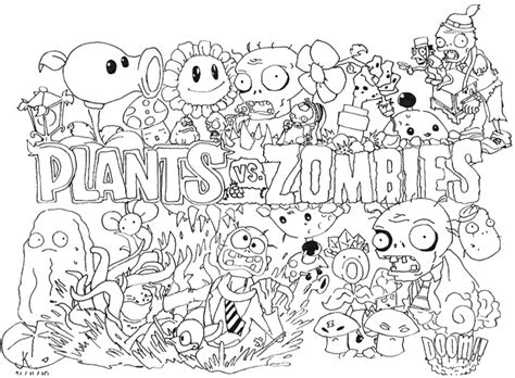 plants vs zombies coloring book for and books plants vs zombies coloring pages for coloring pages