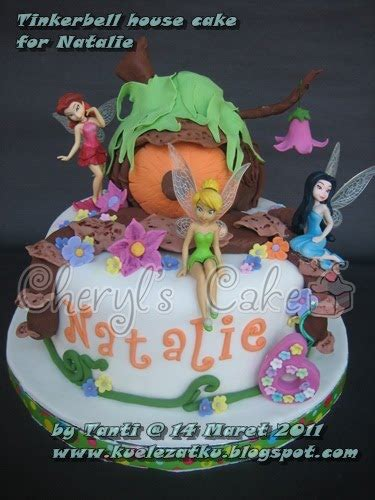 kue ulang  anak cupcake birthday cake tinkerbell