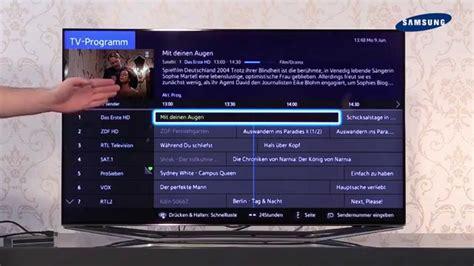 samsung tv 2014 06 tv guide usb recording aufnahmen
