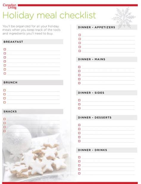 printable holiday meal planner 21 best images about meal planners on pinterest