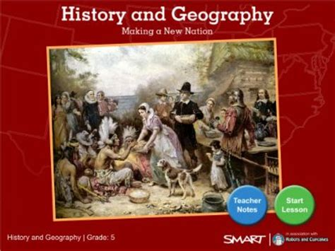 geography and history students history and geography making a new nation smart notebook lesson set up as an interactive