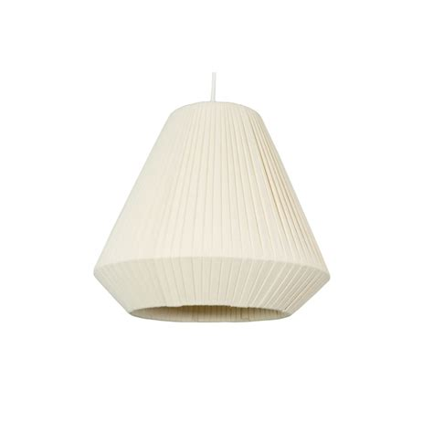 pleated cone l shade at homebase co uk