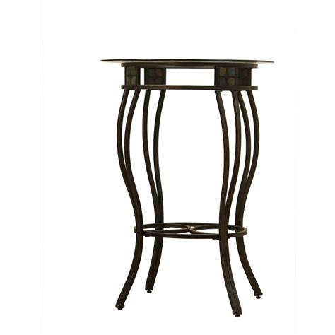 Black Bar Table Boraam Beau Black And Gold Pub Bar Table 70416 The Home Depot