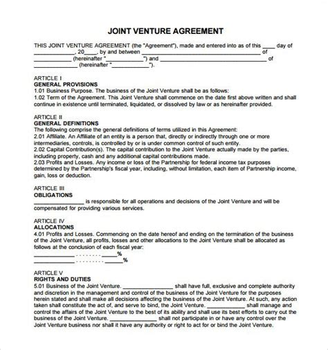 95 Fresh Joint Venture Agreement Template Uk Realstevierichards Com Joint Will Template Uk