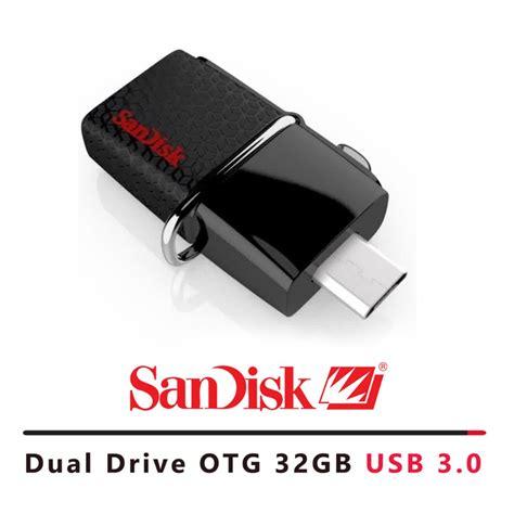 Harga Flashdisk Merk Sandisk toko sandisk flashdisk otg dual drive 150mb s 32gb hitam