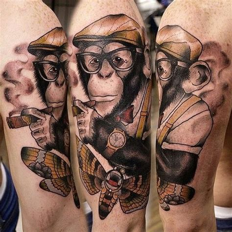 32 adorable monkey tattoo designs amazing tattoo ideas