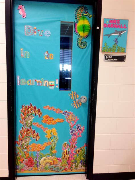 theme board names classroom door for the beginning of the year fish ocean