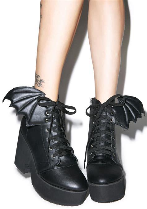 platform boots iron bat wing platform boots dolls kill