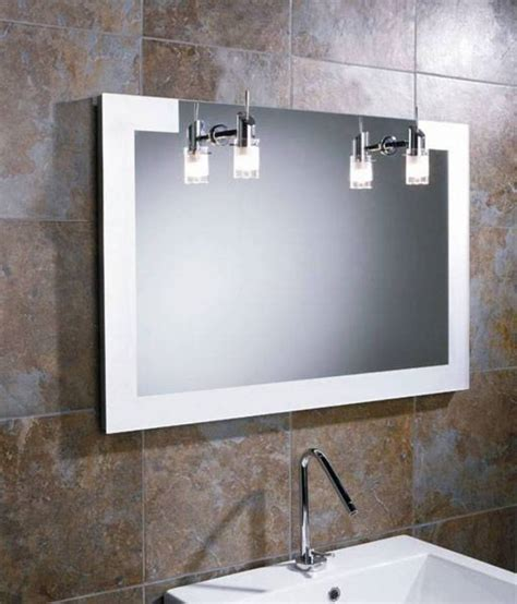 bathroom lighting above mirror