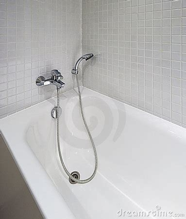 bath tub  shower attachment stock photo image