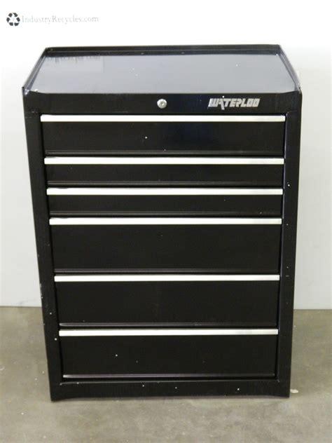 Tool Box Bearing Drawer Slides by Waterloo Wca 266bk Roller Cabinet Tool Box 6 Drawer W