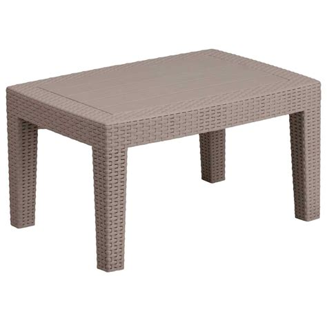 faux rattan coffee table charcoal in outdoor coffee tables