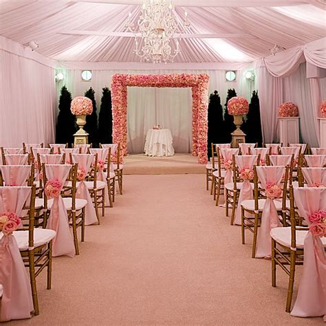 Wedding Ceremony Chair Setup by Gold Chiavari Chairs And Light Pink Sashes Beautiful
