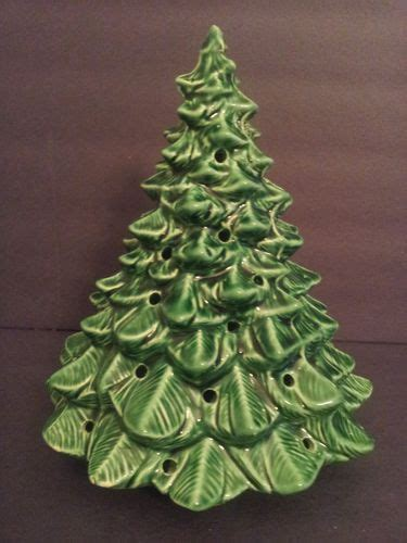 mccoy rare usa ltd pottery ceramic christmas tree green 9